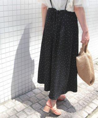 【WEB限定】サスペンダー付きフレアスカート