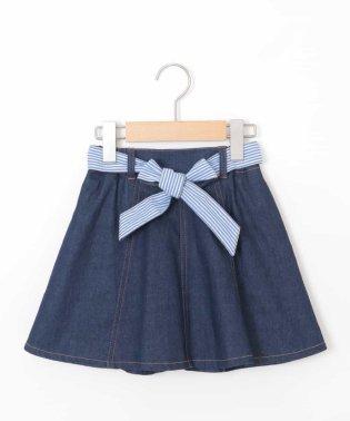 [100-130]リバーシブルベルトインパン付きデニムスカート[WEB限定サイズ]