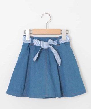 [140-150]リバーシブルベルトインパン付きデニムスカート