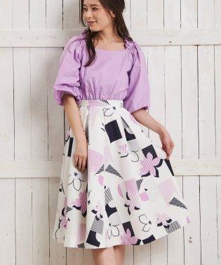 オリジナル幾何柄スカート