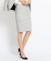 [L]ミックスツイードタイトスカート