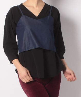 Silk Cotton Denim Cami Female