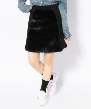 chica/チカ/ファー切り替えスカート