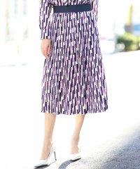 【洗える】ストレッチプリントプリーツスカート