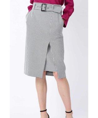 ◆ギンガムストレッチラップレイヤードスカート