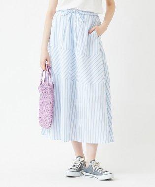 パターンストライプロングスカート