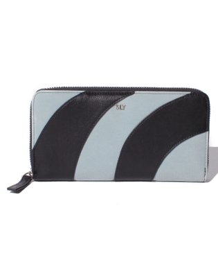 【SLY】 PATCHWORK ROUND ZIPPED WALLET