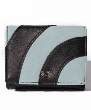 【SLY】PATCHWORK TRIFOLD WALLET