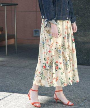 【予約】カラーフラワープリントスカート