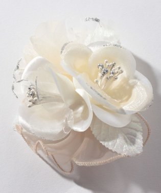 【入学式・卒業式・セレモニー・七五三・結婚式】2輪花寄せコサージュ