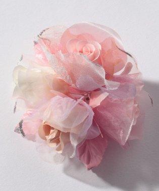 【入学式・卒業式・セレモニー・七五三・結婚式】たっぷりバラのボリュームコサージュ