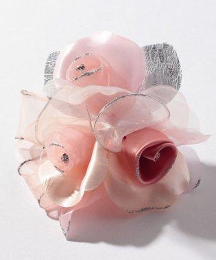 【入学式・卒業式・セレモニー・七五三・結婚式】ふんわり3輪グラデーションコサージュ