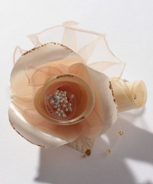 【入学式・卒業式・セレモニー・七五三・結婚式】華やかオーガンジーのゴージャスコサージュ