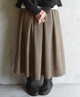 ヘリンボーンタックロングスカート