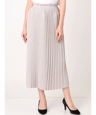 【sw】ニットプリーツラメスカート
