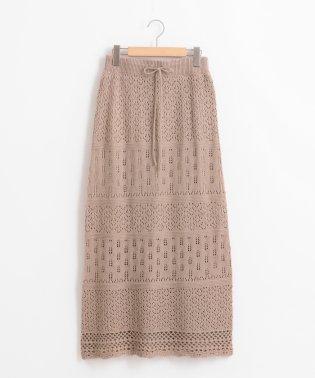レーシーパターンニットスカート