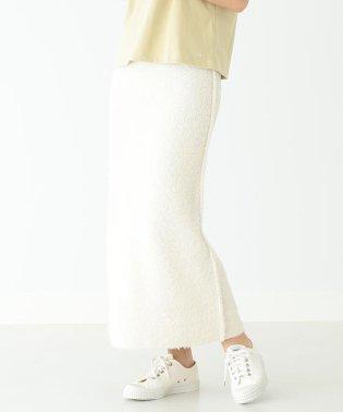 Demi-Luxe BEAMS / カールヤーン ニットスカート
