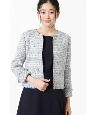 ◆カラーミックスツィードジップアップジャケット