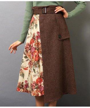 ゴブランブーケ柄トレンチスカート