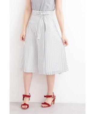 ◆フレアーストライプ部分プリーツスカート