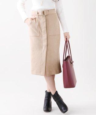 【BLUEEASTオリジナル】Dカンベルト付きスエードポンチタイトスカート