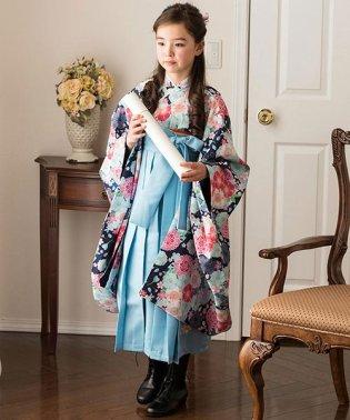簡単着付けの刺繍入り袴和装セット