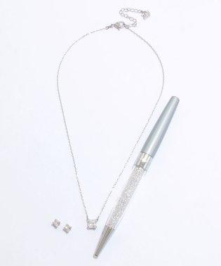 ネックレス+ピアス(5033022)&ボールペン(5139620)