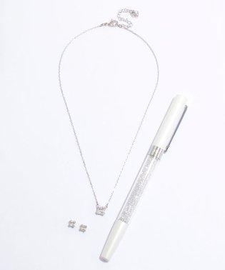 ネックレス+ピアス(5033022)&ボールペン(5213600)