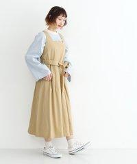 ウエストリボンコットンツイルジャンパースカート