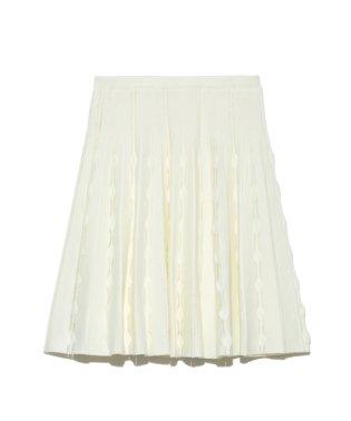透け柄ニットスカート