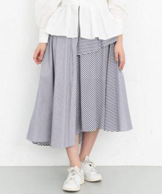 MIXストライプフレアスカート