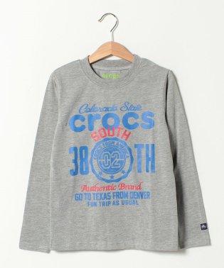 CROCSデカロゴ長袖Tシャツ