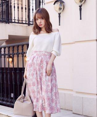 オリジナル単色フラワースカート