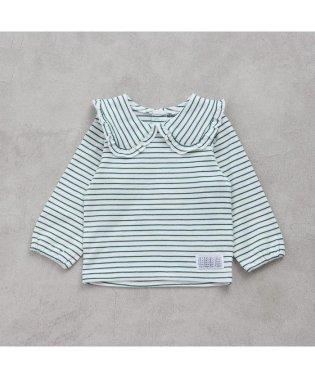 丸襟ボーダーTシャツ