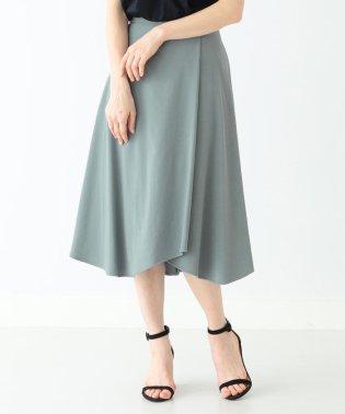 Demi-Luxe BEAMS / フロントタック フレアスカート