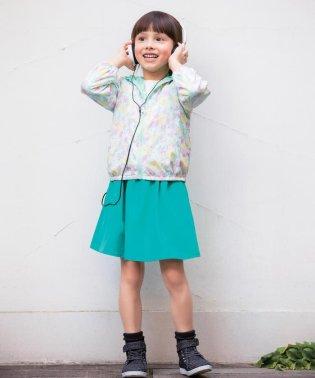 【KIDS】リーバーシブル ポリエステルシレー スカート