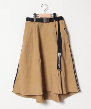 ガチャベルトつきサイドラインフレアミディスカート