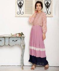 カラープリーツロングスカート[DRESS/ドレス]
