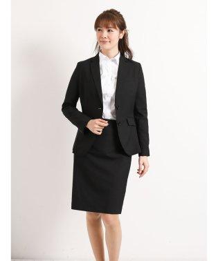 ストレッチウォッシャブル黒無地セットアップタイトスカート