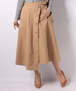ツイルフロントボタンスカート