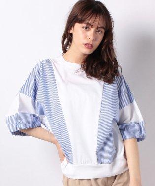 【basque】ストライプシャツ地×カットソー