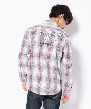 チェック刺繍シャツ/CHECK EMBROIDERY SHIRT HELL WEEK BUD/S