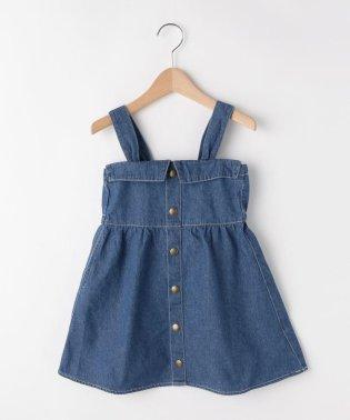 【110cm~150cm】ライトオンスデニムジャンパースカート