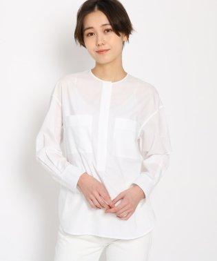【洗える】タイプライターWポケットプルオーバーシャツ