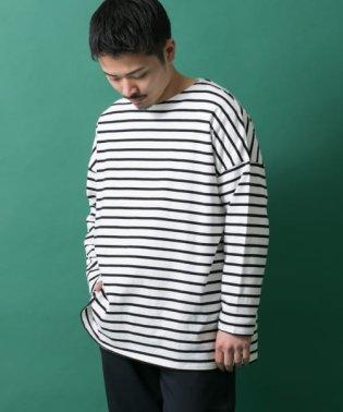 オーバーサイズボーダーTシャツ