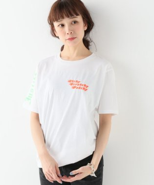 【ITCHY SCRATCHY PATCHY/イッチースクラッチーパッチー】プリントTシャツ:ホワイト