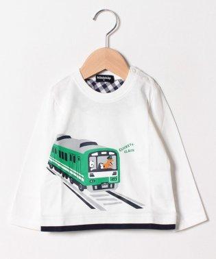 電車長袖Tシャツ