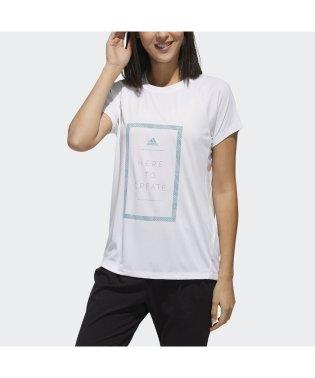 アディダス/レディス/W M4T メッセージプリントTシャツ