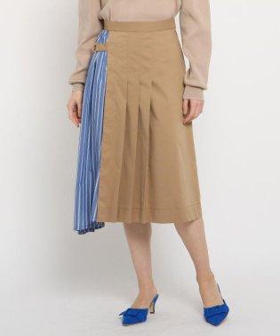 チノ異素材ドッキングスカート