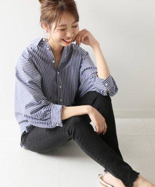 ≪予約≫ギャザーパールボタンシャツ◆